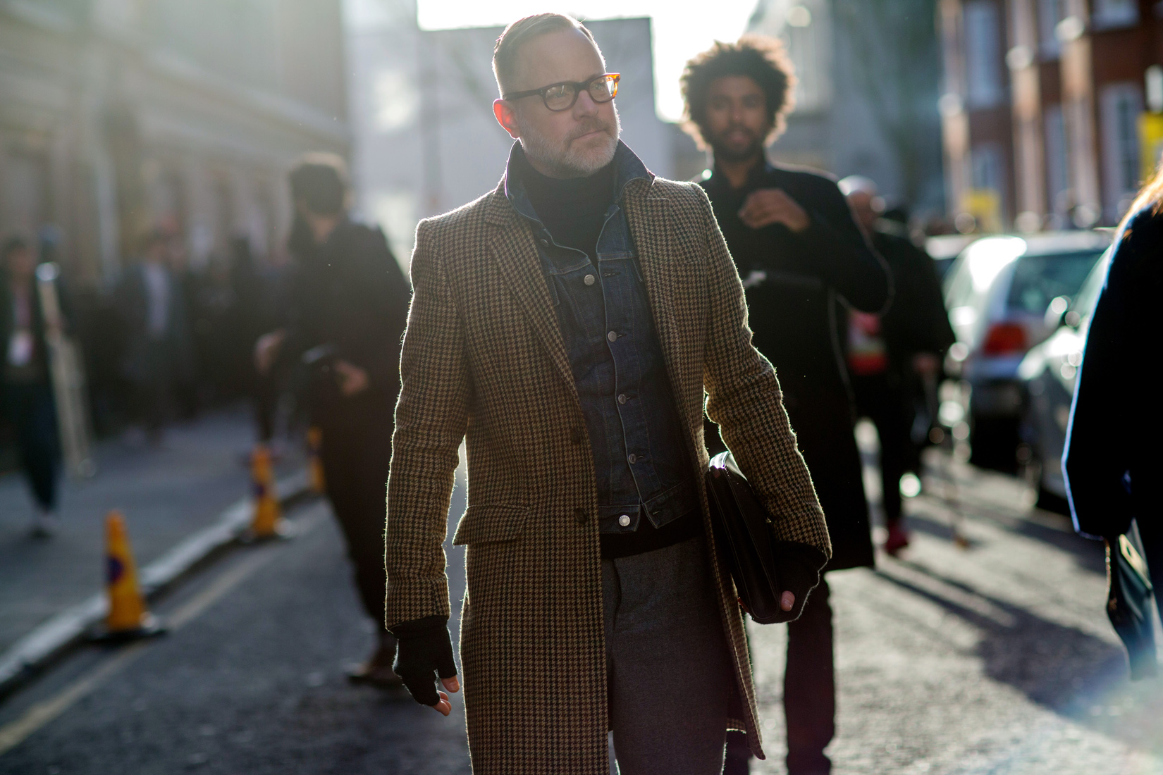 EXCLUSIVE Members of the public posing for streetstyle photos during London Collections Men