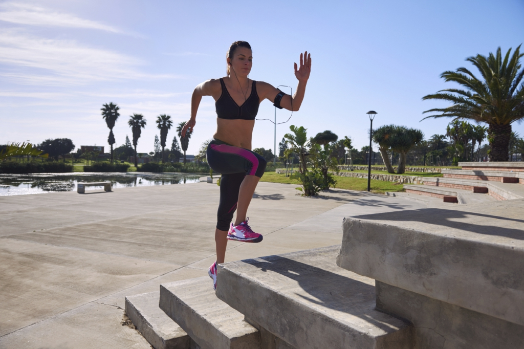 determination to burn calories and increase fitness with strength and speed training