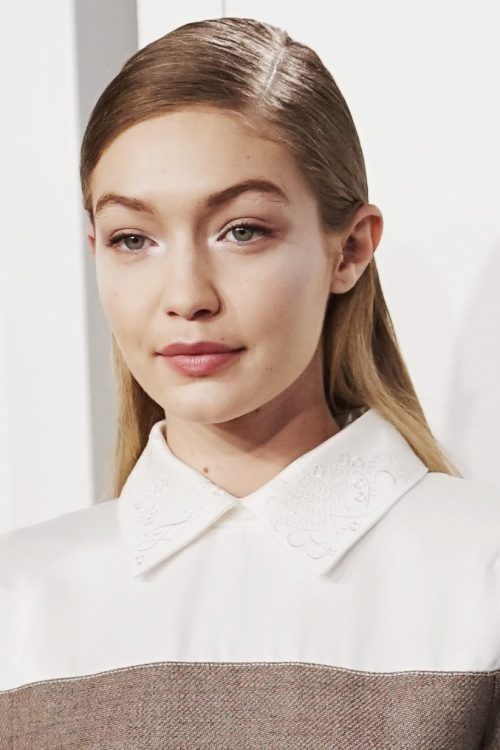 MILAN, ITALY - FEBRUARY 22:  Gigi Hadid is seen backstage ahead of the Fendi show during Milan Fashion Week Fall/Winter 2018/19 on February 22, 2018 in Milan, Italy.  (Photo by Vittorio Zunino Celotto/Getty Images)